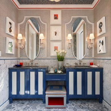 Punch de couleur dans la salle de bain - Salle de bain