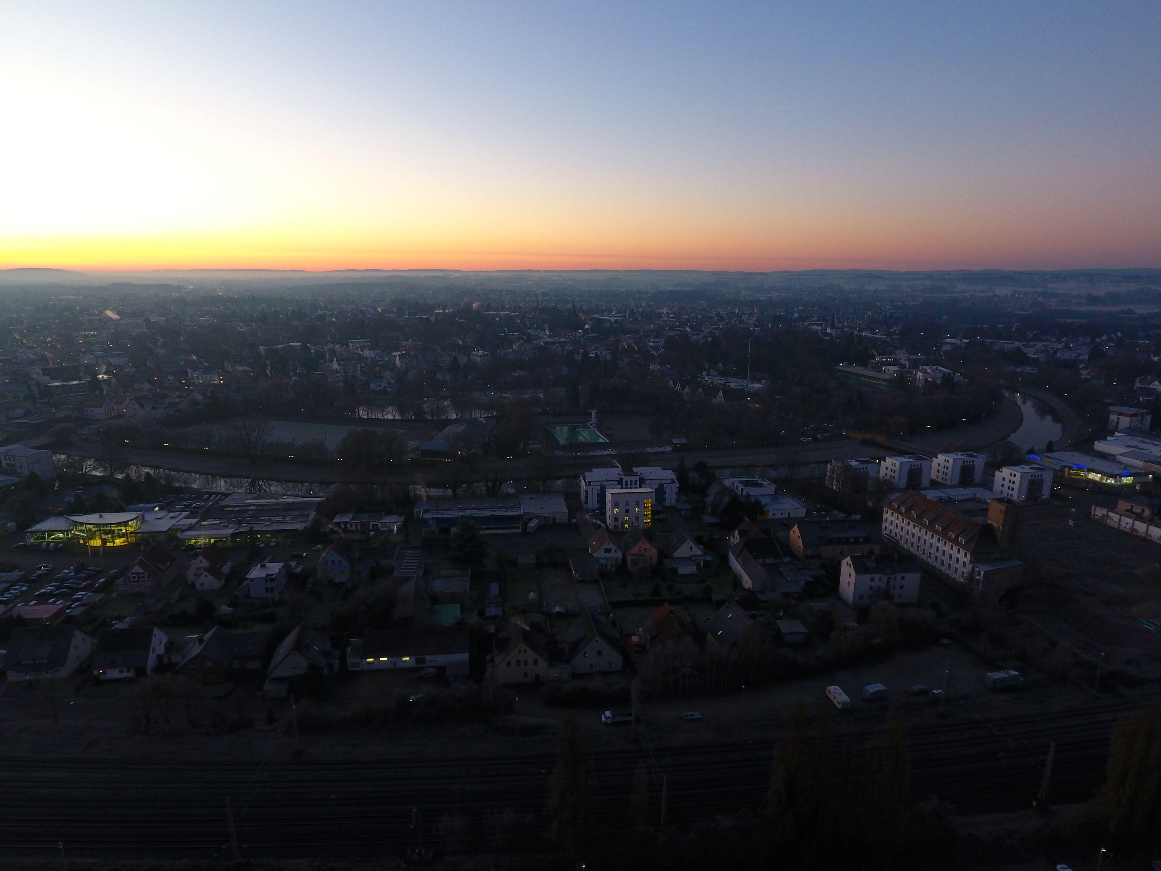 Sonnenaufgang über Bünde am 30.12.2016