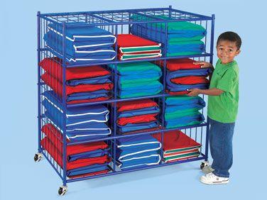 Folding Rest Mat Mobile Storage Unit At Lakeshore Learning Mobile Storage Units Classroom Storage Mobile Storage