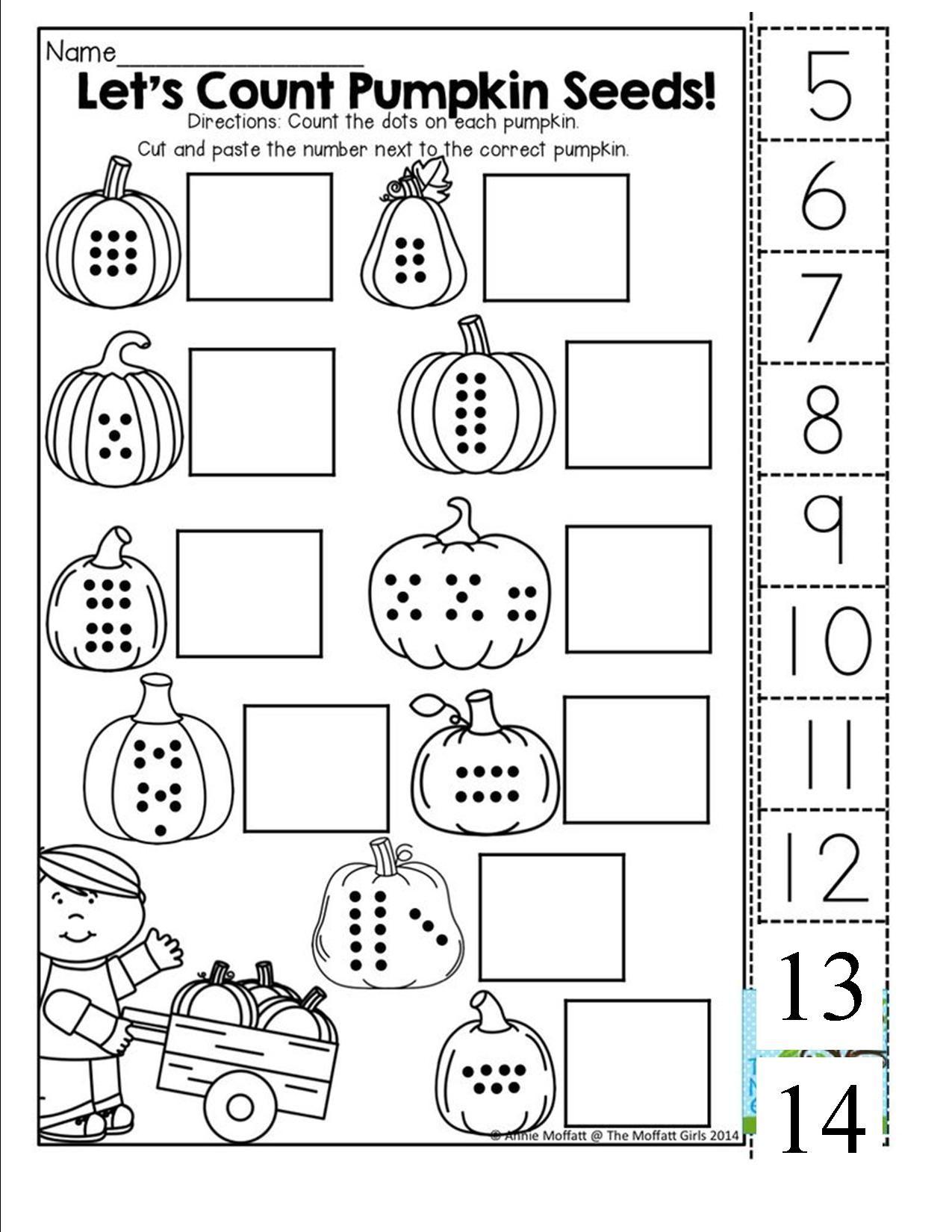 Pin On Ot Fine Motor Halloween Kindergarten math worksheets halloween