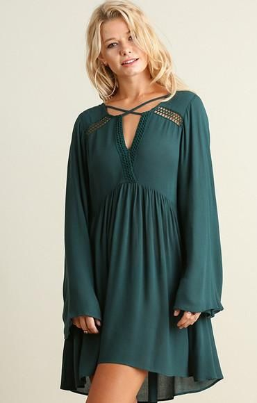 Trend Watch Swing Dress - Forest - Find the perfect dress for any occasion at ShopLuckyDuck.com
