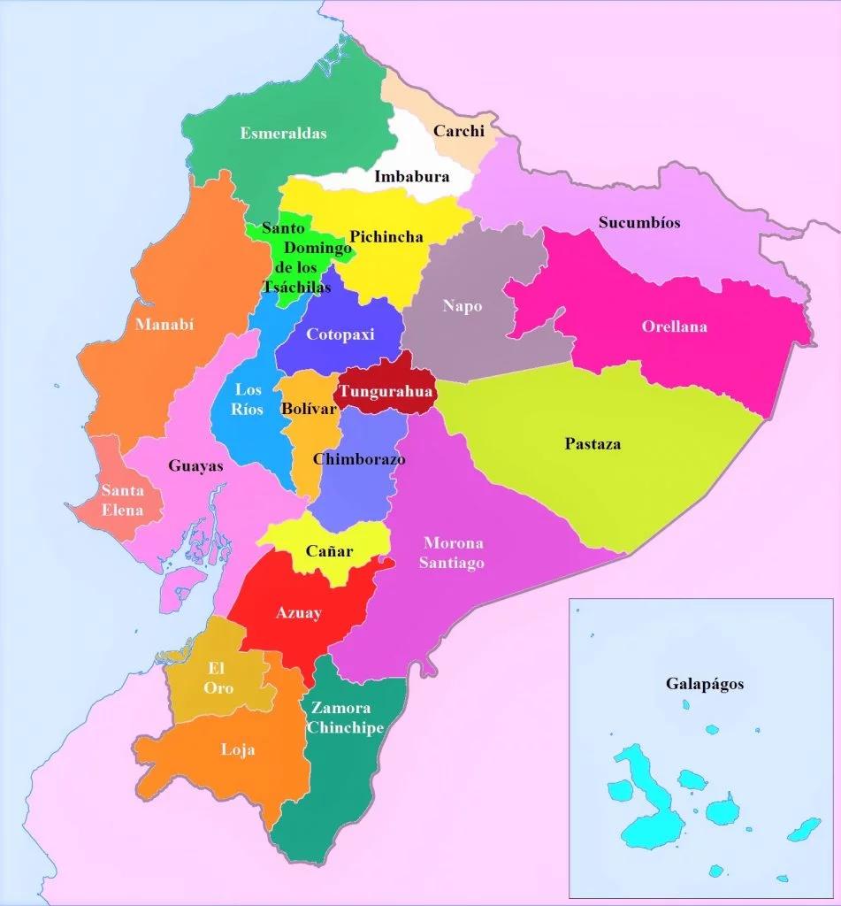 Ecuador Mapa Del Mundo.Mapa Politico Del Ecuador Hd Para Imprimir En 2020 Ecuador Mapa Ecuador Provincias Del Ecuador