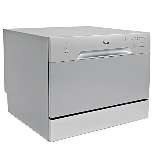 Ensue Countertop Dishwasher Portable Compact Dishwashing Machine Silver Countertop Dishwasher Kitchen Trash Cans Best Dishwasher