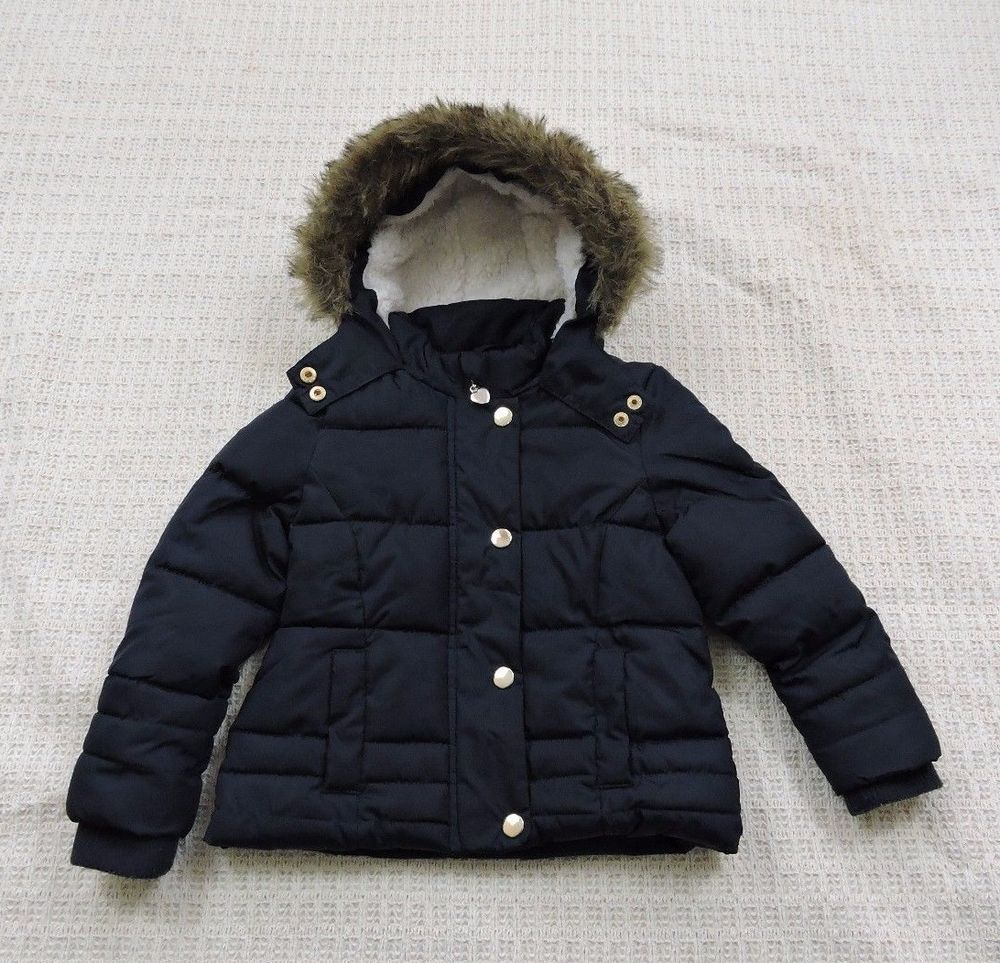 45e91adf0 Young Dimension Girl Blue Padded Quilted Hooded Winter Coat Size 4-5 ...