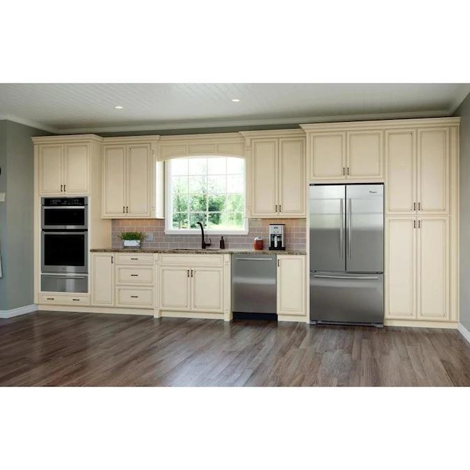 Allen Roth Tuckhill 24 In W X 84 In H X 24 In D Hazelnut Maple Door Pantry Semi Custom Cabinet Lowes Com Kitchen Remodel Small Semi Custom Kitchen Cabinets Semi Custom Cabinets
