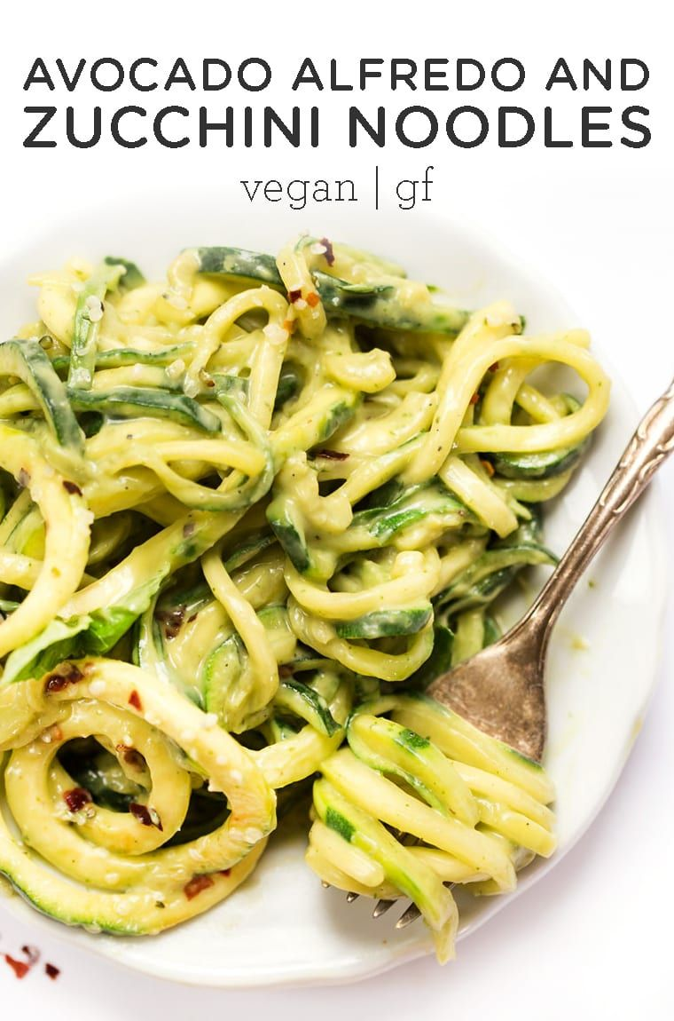 Avocado Alfredo with Zucchini Noodles - Simply Quinoa