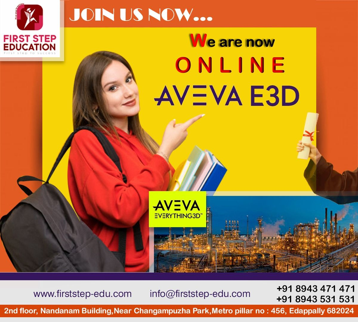ADMISSION STARTED.... Online AVEVA EVERYTHING 3D (E3D) Course Join First Step Education - First Step Education is an ISO 9001:2015 certified company We assure you a 100% placement assistance to rightly direct you. Join Now! Contact Us to Apply Now! +91 8943471471 Whatsapp: +91 8943471471  Visit website to know more: www.firststep-edu.com  #onlineeducation #onlinecourses #onlineclass #firststepeducation #vacationclass#avevae3d #aveva #onlinecourses #diplomacourses #everything3D #e3d