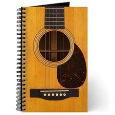 Acoustic Guitar Journal By Giftmonster Cafepress Handmade Guitar Cards Guitar Gifts Guitar