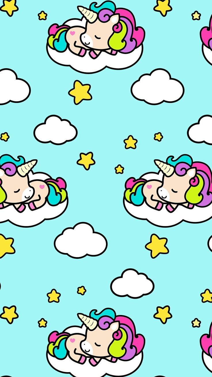 Unicorn Clouds Stars Cute Wallpaper Click Here To Download