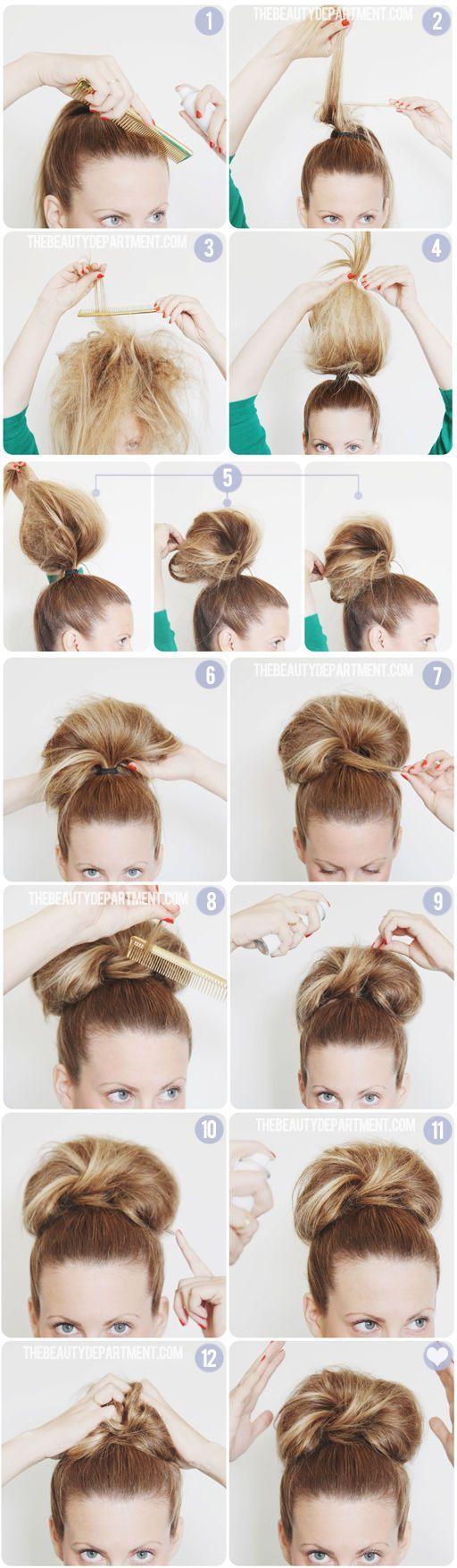 GIANT BUN TUTORIAL | Hair style, Big bun and Bun tutorials