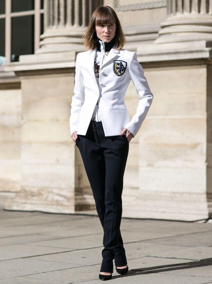 Dior blazer & sharp tailoring. #AnyaZiourova in Paris.