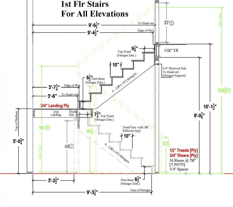 Typical residential stair plan drawing google search for Residential architectural drawings