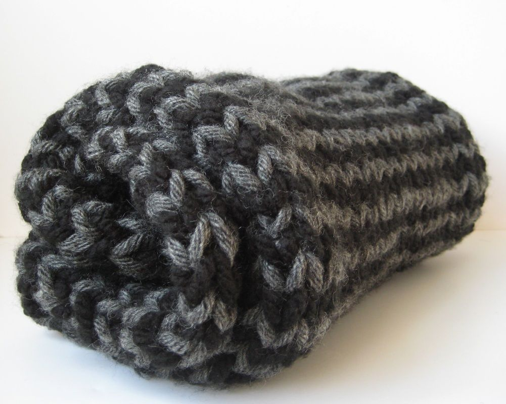 Free chunky stripe scarf pattern and how to knit single row stripes ...