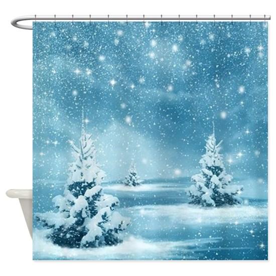 Christmas Winter Wonderland Snow Ni Shower Curtain by Liviana - CafePress