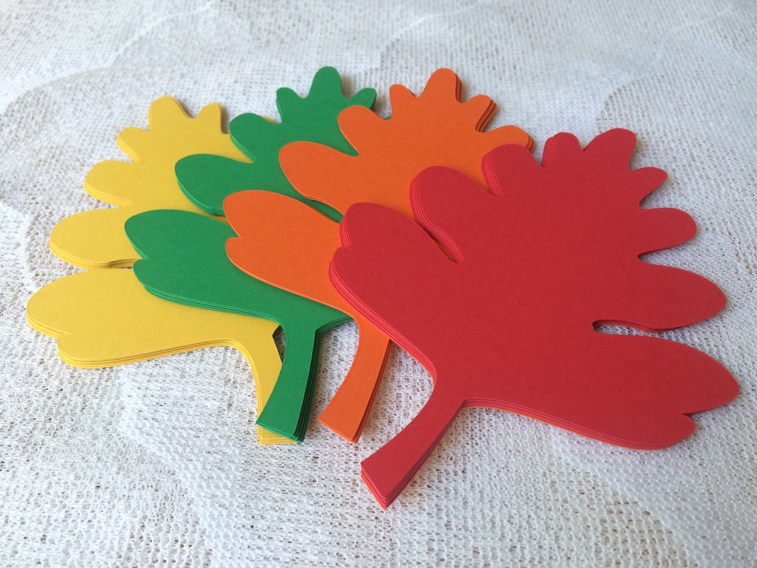 32 Oak Leaf Die Cuts, Fall Leaves for Bulletin Boards, Classroom Decoration, Fall Party - Jumbo 5.5 Inch by EllieMarieDesigns on Etsy