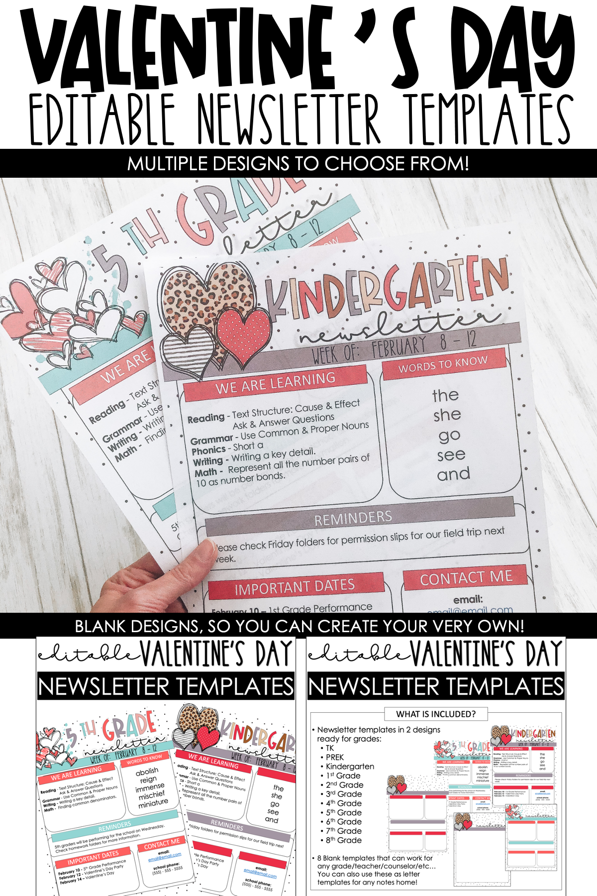 Valentine S Day Newsletter Templates Google Drive Included In 2021 Newsletter Templates Classroom Labels Classroom Newsletter