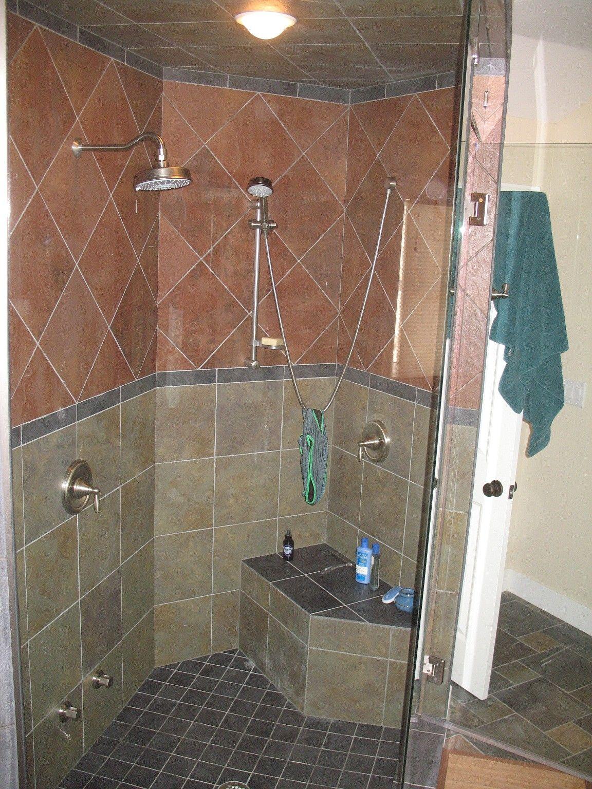 Master Bath Shower Tile Patterns | color porcelain scheme in ...