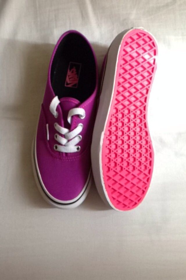 24f22f1fca Purple Vans Bright Pink bottom ♡ (Too Cute) im glad I bought them ...