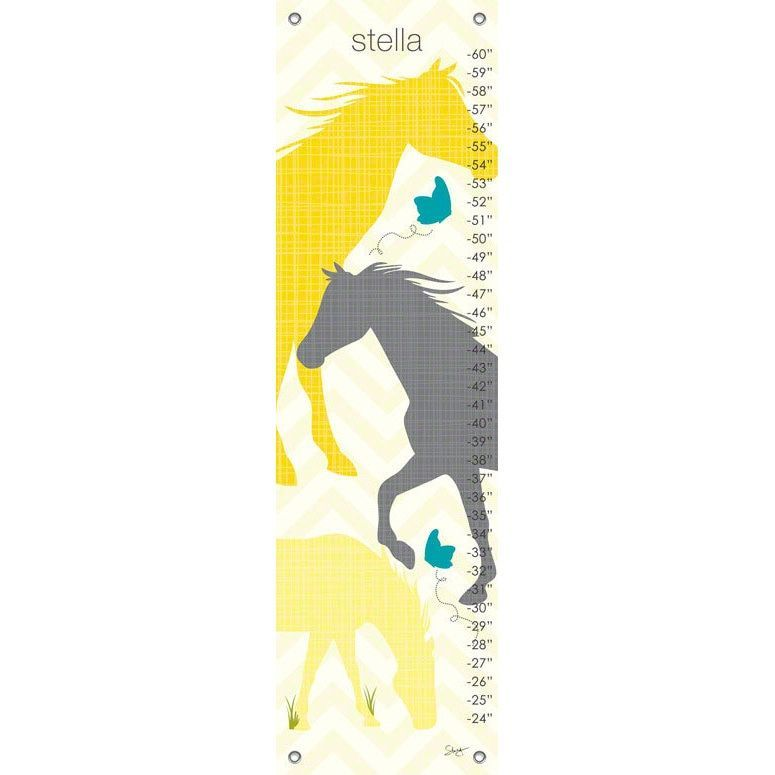 Oopsy Daisy Modern Horses Canvas Growth Charts Products