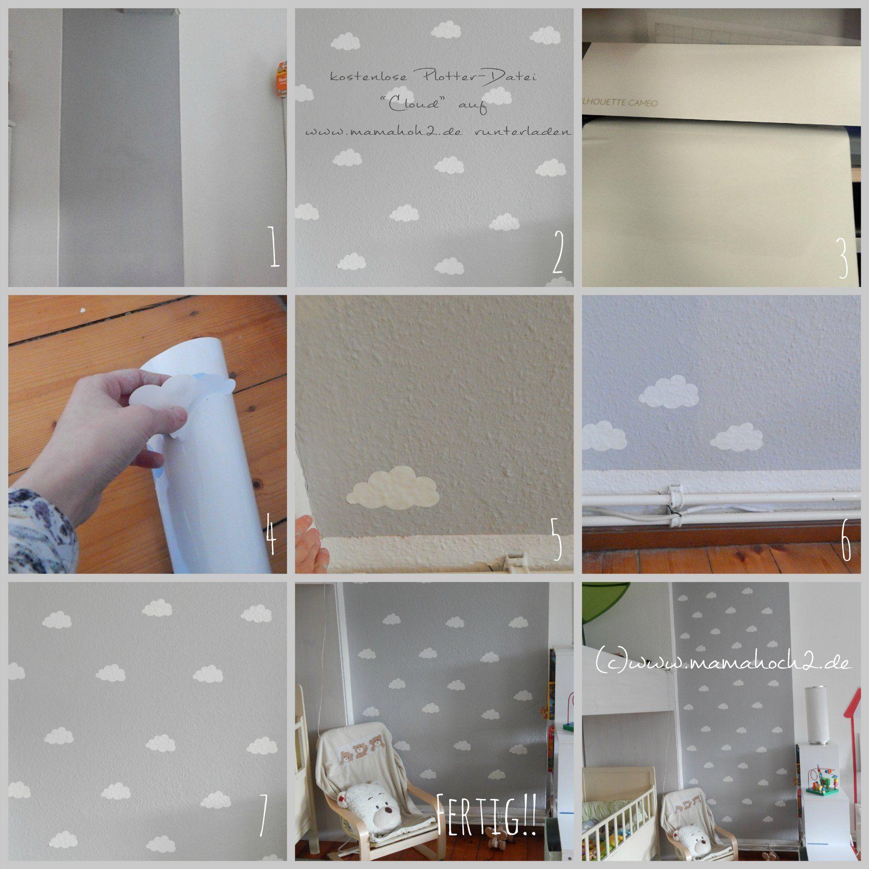 Kinderzimmer Ideen #1: Wolkenwand Tutorial & Plotter-Freebie ...