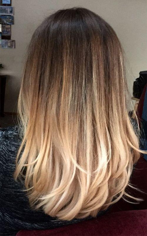 Perfect Bayalage Brunette Blonde Long Hair 2017