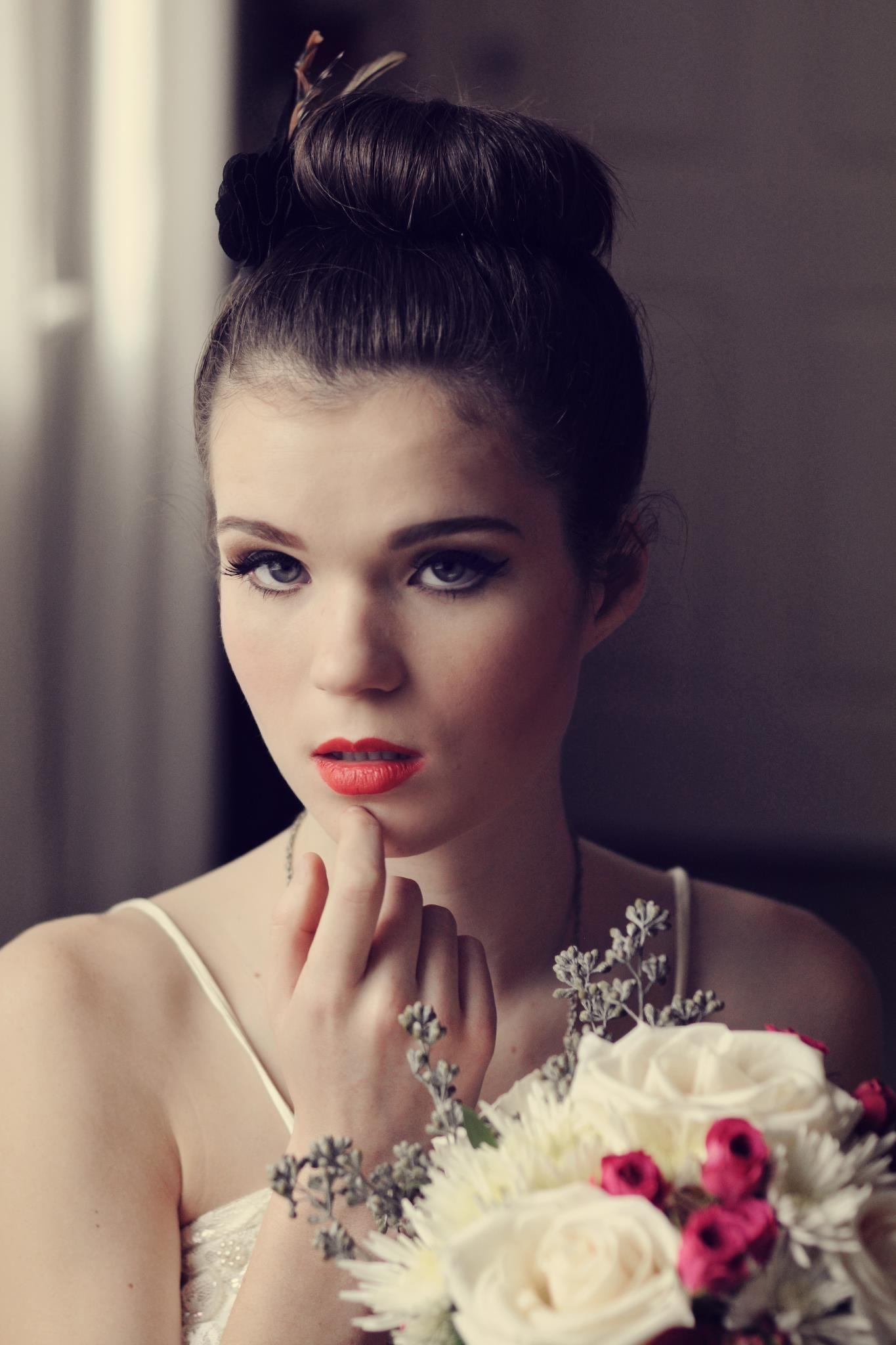 vintage bridal makeup and hair by hair and beauty bc