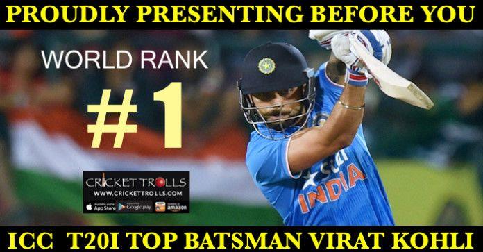 Virat Kohli Becomes The New ICC Rank 1 Batsman In