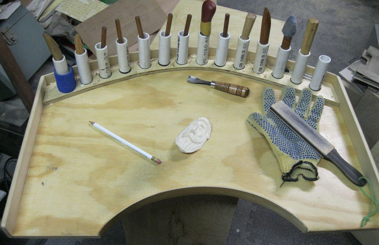 The sunday woodcarver improved carvers lap table