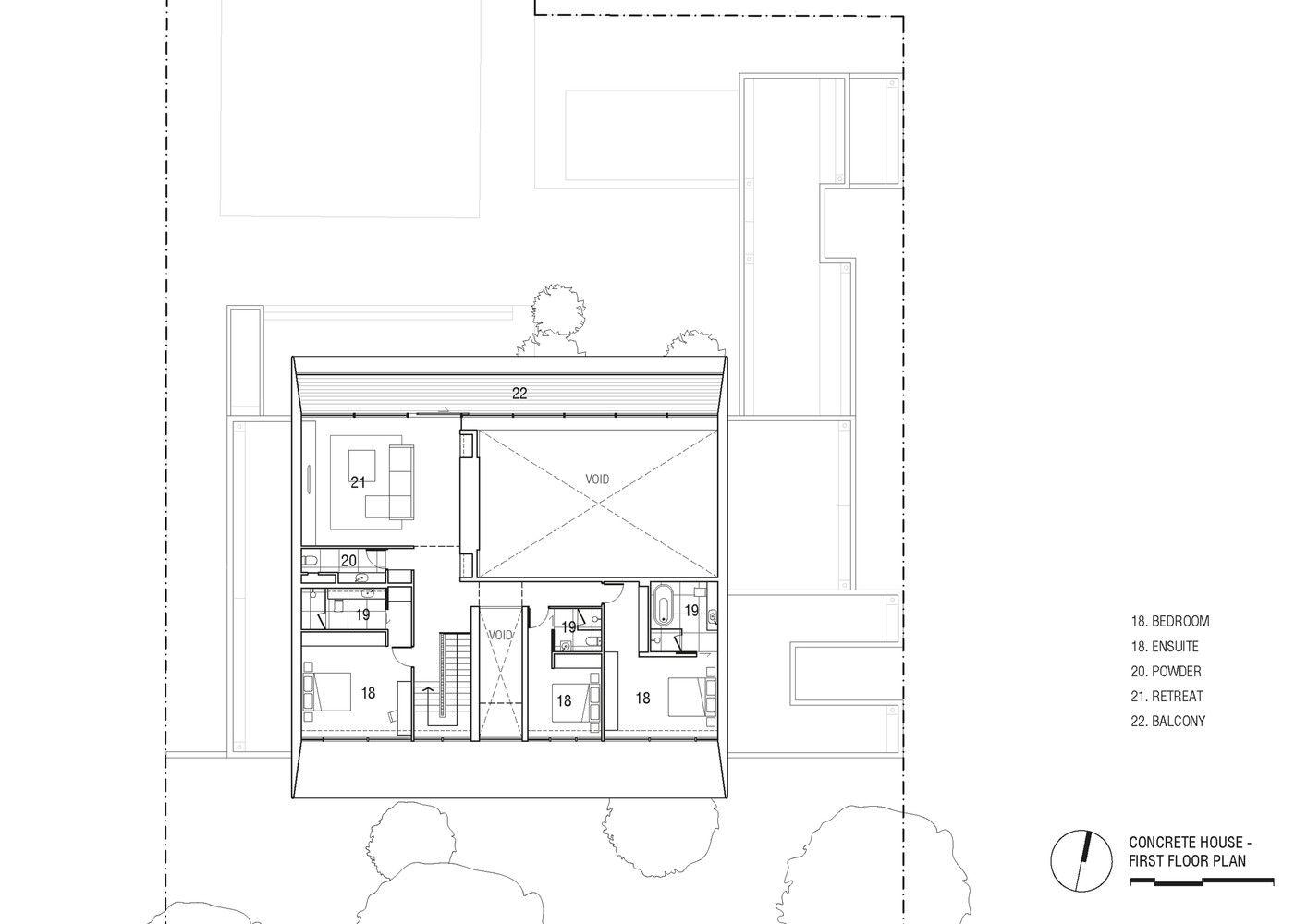 Concrete House First Floor Plan Concrete House Minimalist House Design Concrete Houses