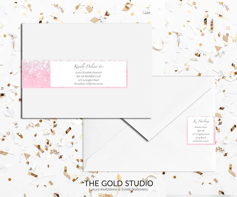 address labels in pages