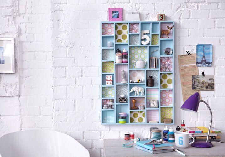 Diy Wall Storage Ideas Get Creative 3 Simple Shabby Chic Organizing Projects Mit Bildern Zuhause Diy Setzkasten