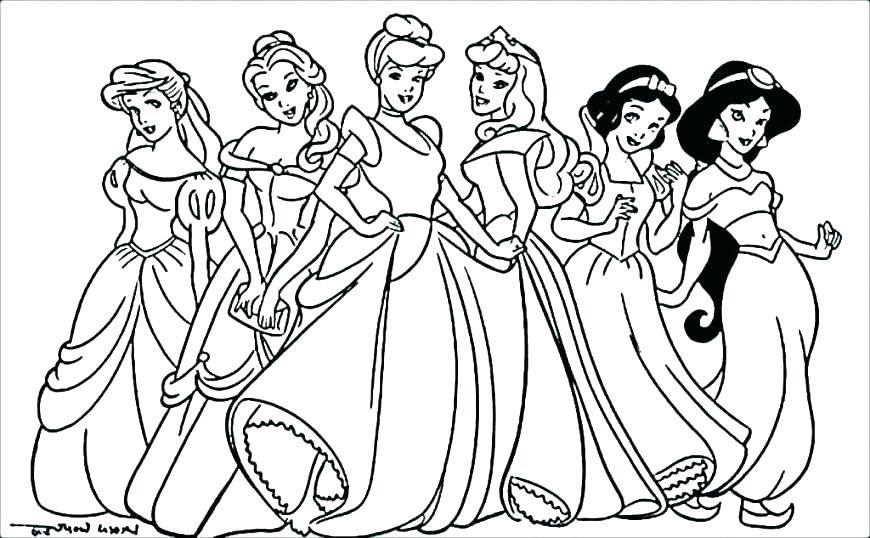 Cute Disney Princess Coloring Pages For Girls Princess Coloring Pages Disney Princess Coloring Pages Princess Coloring Sheets