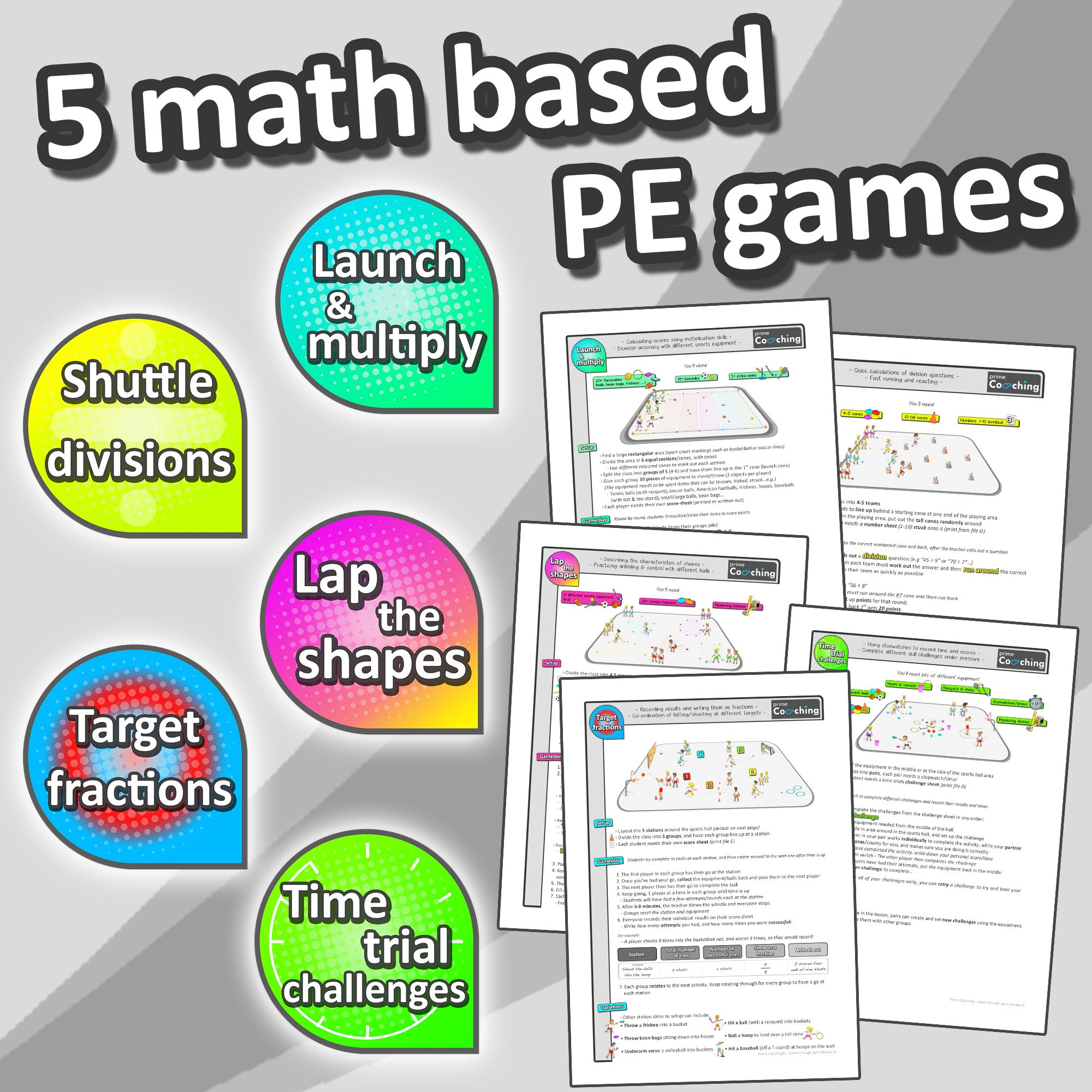 Learn Math Through Sport Grade 4 Pe Games Worksheets