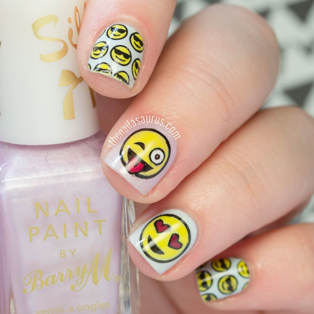 Easy Emoji Nail Art using the collection of Geek stamping plates from MoYou  London. - Emoji Nail Art And Some New Kit From MoYou Emoji Nails, Stamping