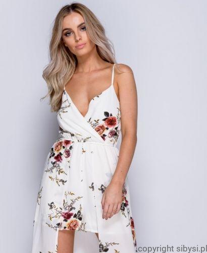 Sukienka Z Trenem Fashion Wrap Dress Dresses