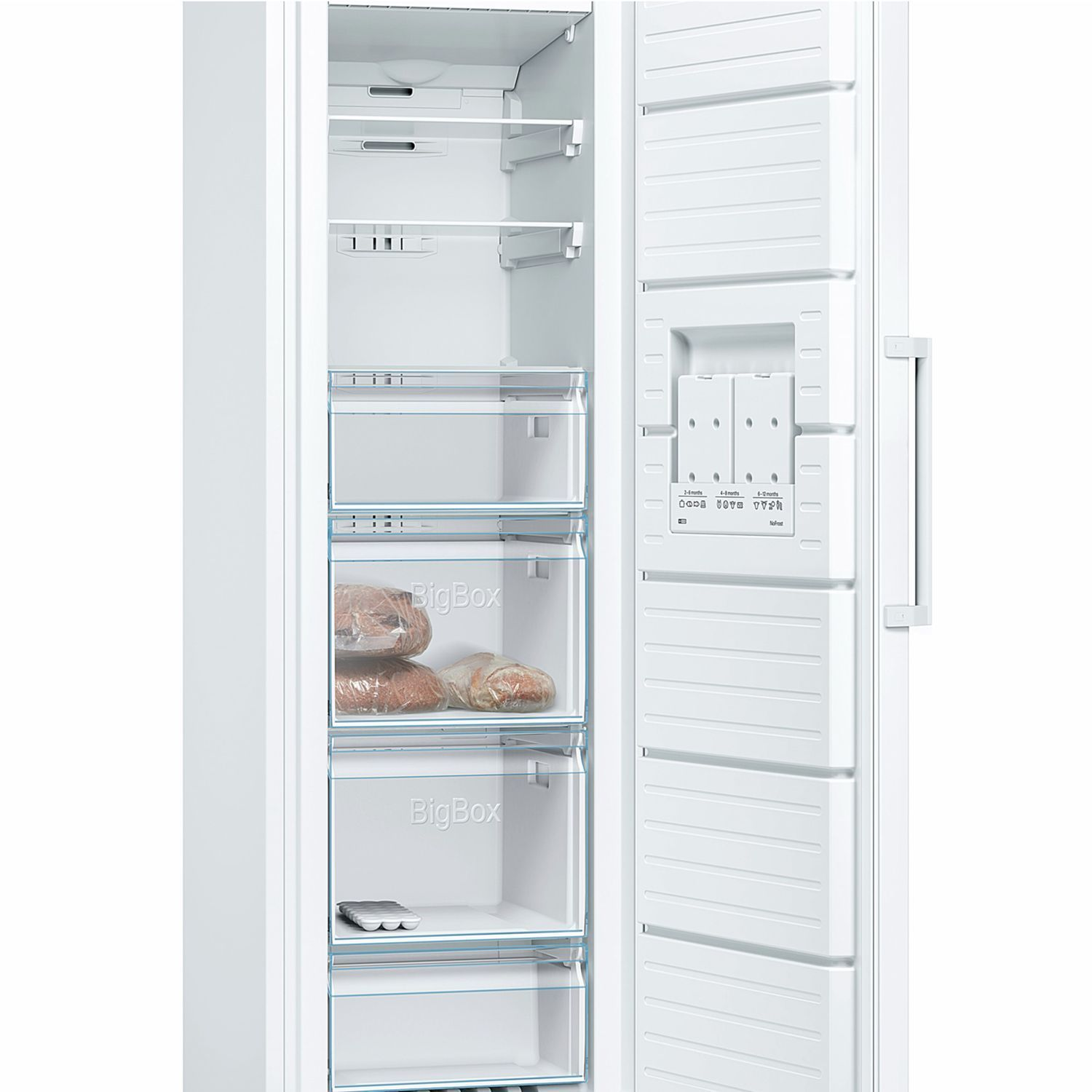 Bosch Gsn36vw3pg Tall Freezer A Energy Rating 60cm Wide White