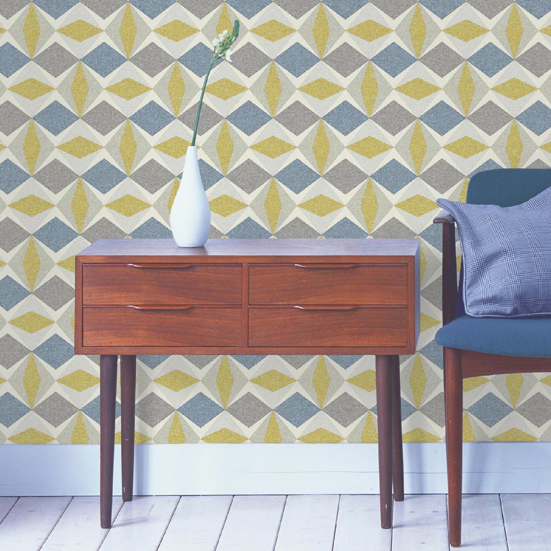 papier peint vinyle sur intiss ecorce losange gris. Black Bedroom Furniture Sets. Home Design Ideas