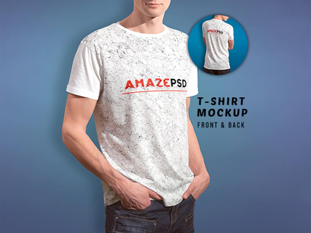 Download T Shirt Mockup Front Back Free Graphics Pixelify Net Shirt Mockup Tshirt Mockup Mockup