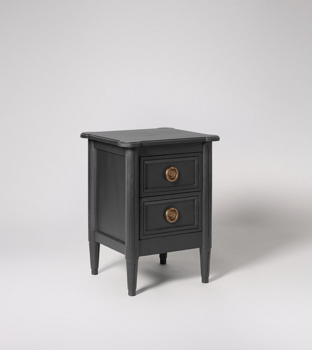 Bedside Table Modern Country Style In Charcoal 229