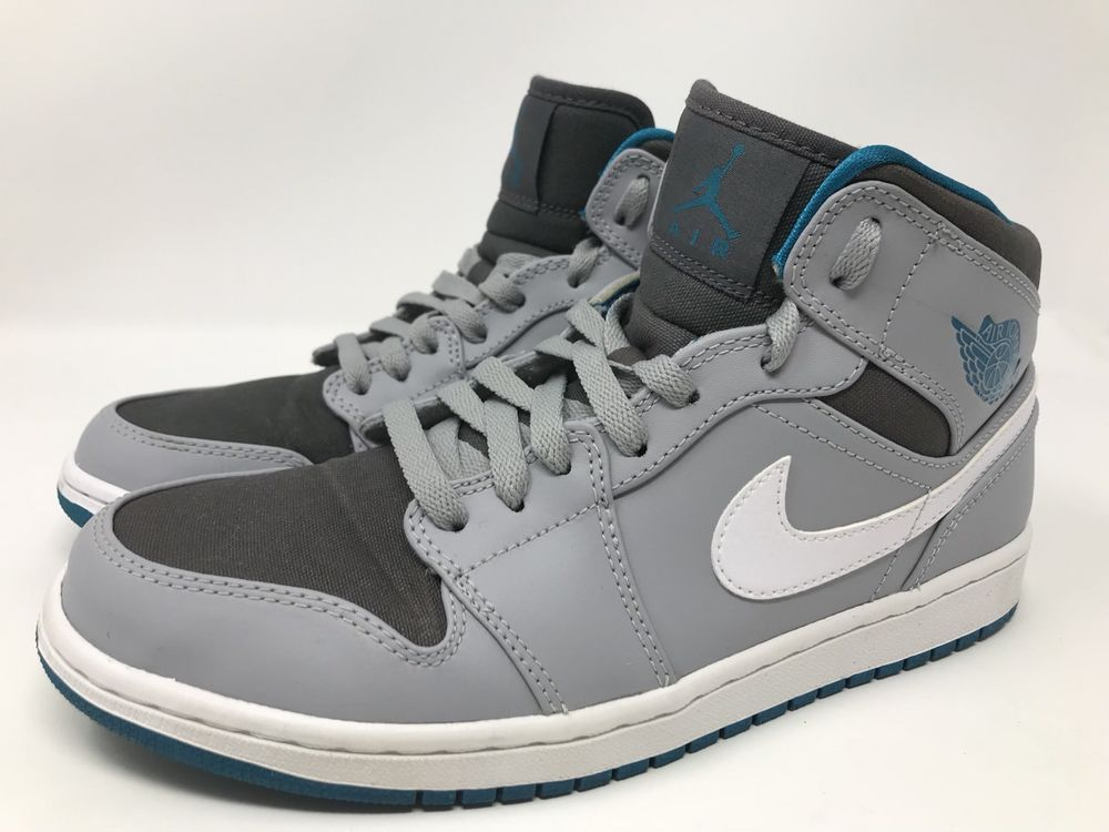 8c79ce53f4d07d Nike Air Jordan 1 High Low Mid 554724-027 Gray White Teal Men s Size 8  EXCELLENT  Nike  BasketballShoes