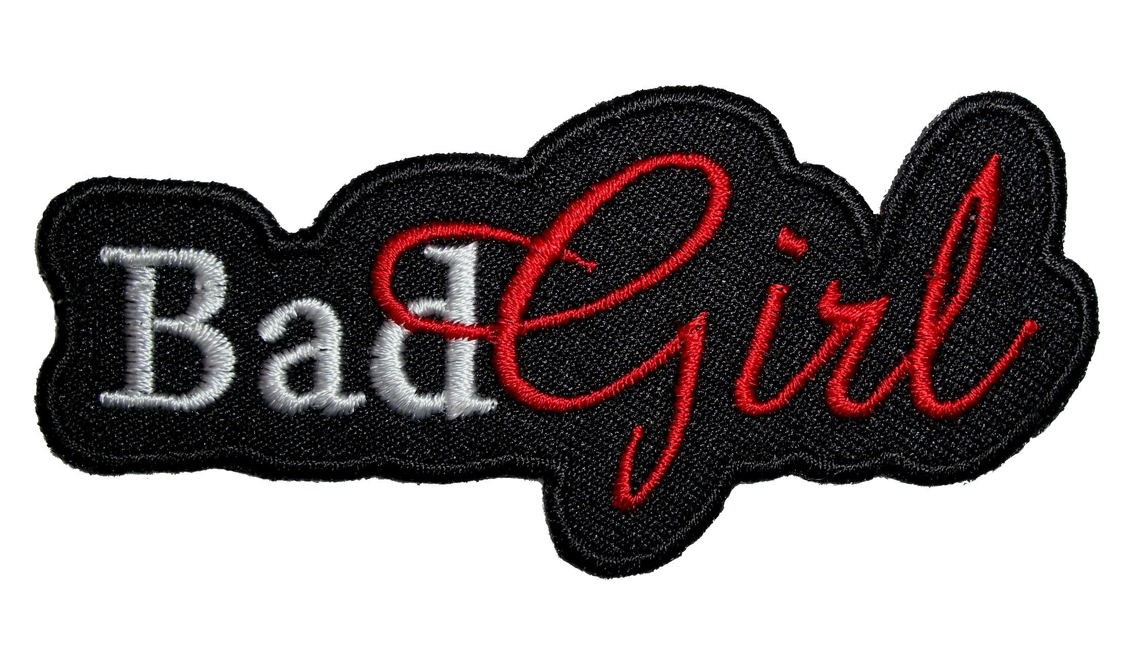 BAD GIIRL Iron On Patch Saying Words Girly