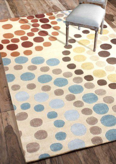 Nuloom 200acr185a 36056 handmade modern abstract rings beige rug 3 feet 6 x 5 feet 6 art - Alfombras contemporaneas ...