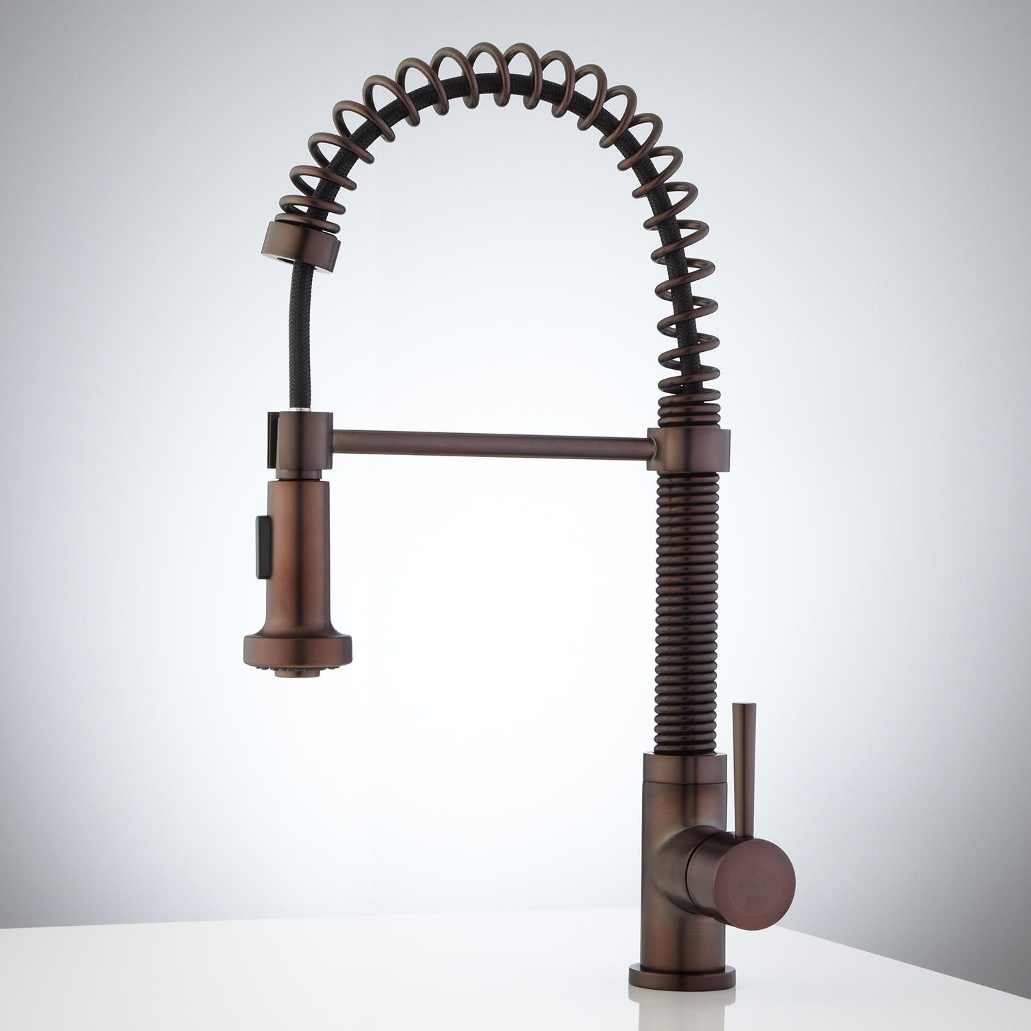 "Greiner Kitchen 18 3 4"" $210 Ariza Kitchen Faucet with Spring"