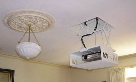 Good Questions Hidden Ceiling Mounted Projector Diy