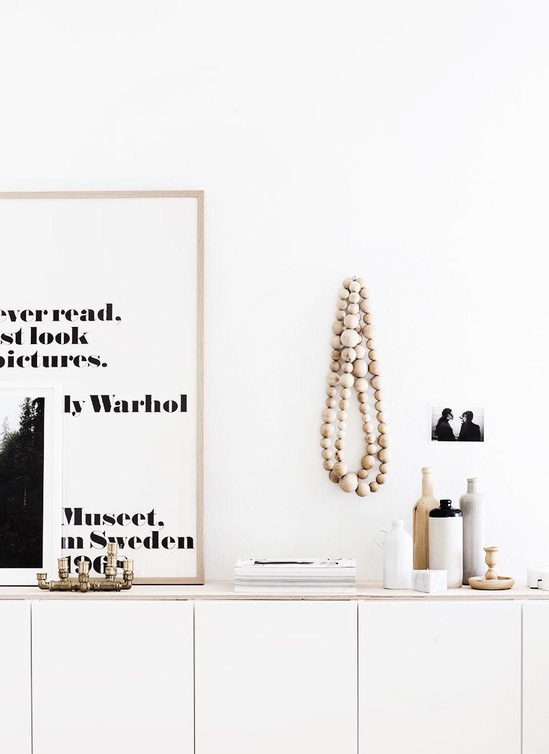 White sideboard with clean decoration wohnzimmer pinterest