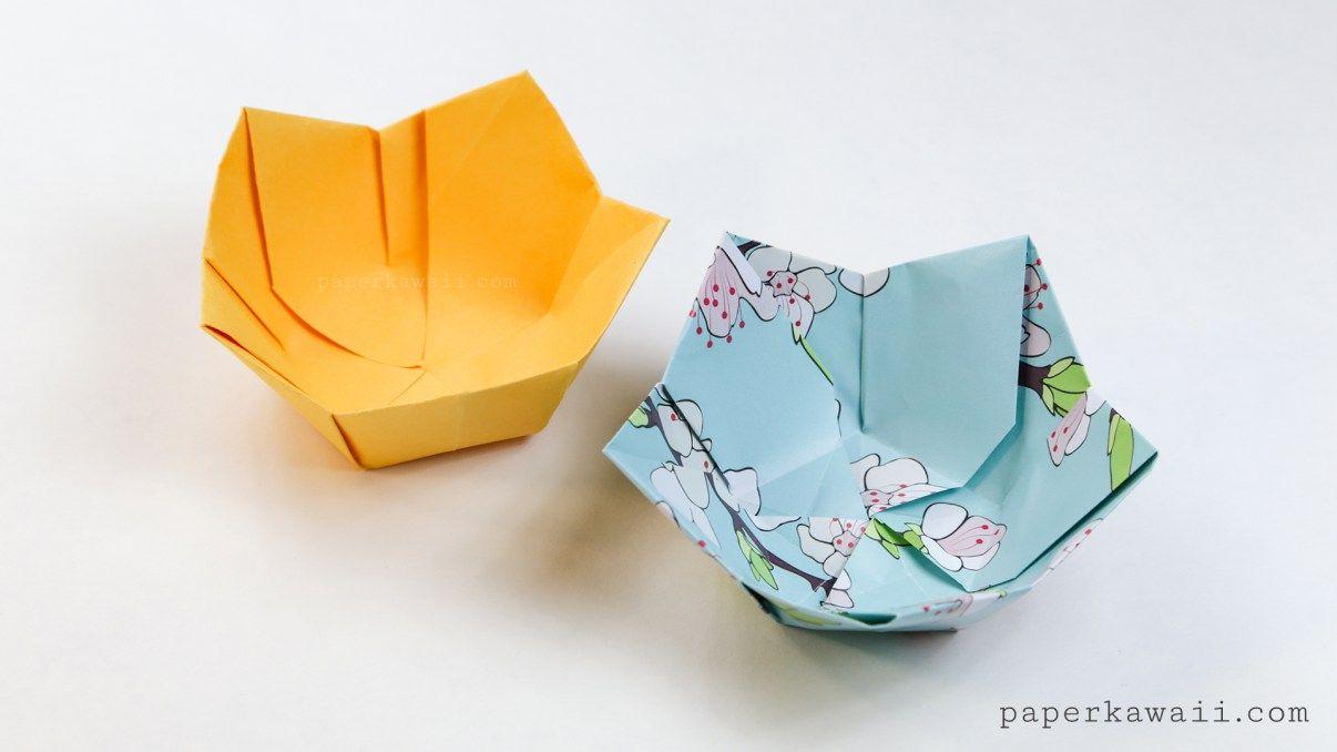 Origami Flower Bowl Tutorial Origami Pinterest Origami Flower