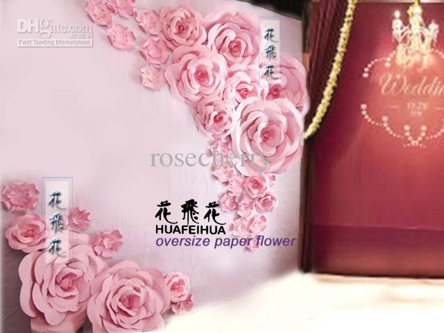 Oversize paper Flowers Wedding background decorations Large