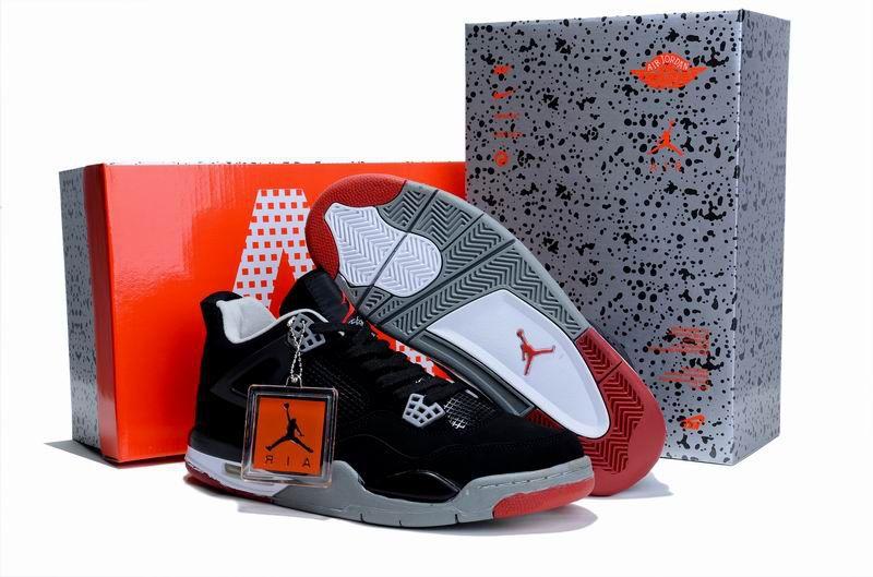 Air Jordan Shoes 4 Limited Black/Grey For Sale
