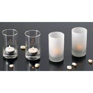 4 Round Clear Glass Votive Candle Holders 1 Dozen 12 99 Tall