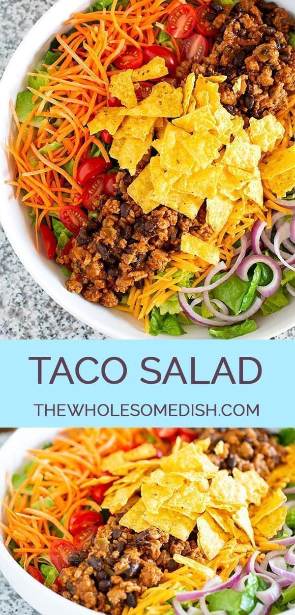 The Best Taco Salad - The Wholesome Dish